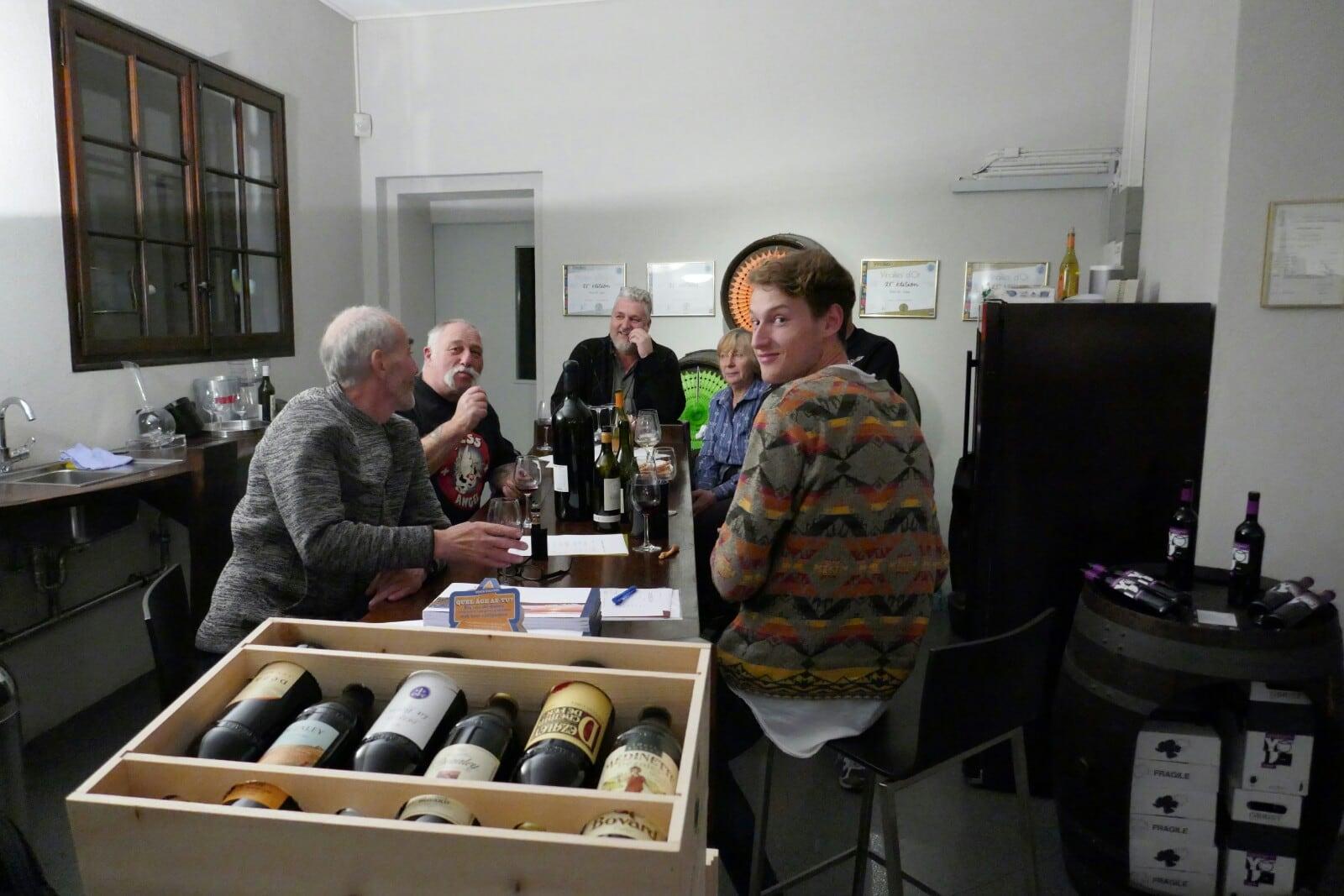 Dégustation de vin chez Oberist
